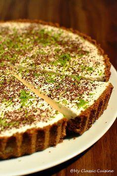 Tarta cu Crema de Limeta ~ My Classic Cuisine Tart Recipes, Sweets Recipes, Nutella Breakfast, Decadent Food, Homemade Sweets, Artisan Food, Vegan Cake, Amazing Cakes, Food And Drink