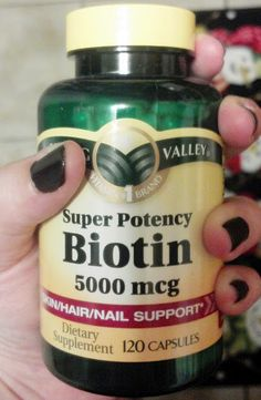 Biotin makes hair and nails grow fast and thick. It's good for your skin and gives it a pseudo-tan glow all year long. It also helps prevent grays and hair loss....Interesting