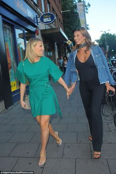 Here come the girls:Another TOWIE pal came in Danielle Armstrong who held on to Ferne in ...
