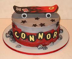 The Icing On Cake Sweet Skateboard Cake Icing, Cupcake Cakes, Skateboard Party, 6th Birthday Cakes, Birthday Ideas, Happy Birthday, Skate Party, Valentine Cake, Dream Cake