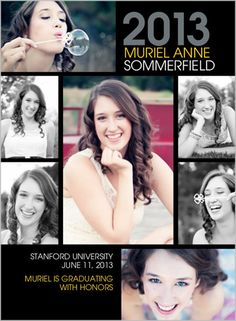 Create photo graduation announcements with distinguished designs and layouts from Shutterfly.com