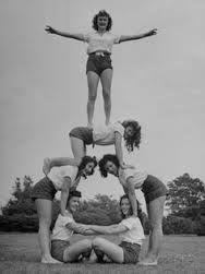 Cheerleading Human Pyramid