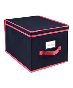 Take a look at this Navy & Fuchsia Large Storage Box by The MacBeth Collection on #zulily today!