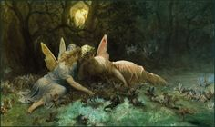 Gustave Dore (1832-1883), 'The Fairies - A Scene Drawn from William Shakespeare', 1873