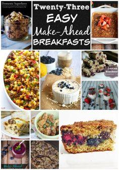 23 Make-Ahead Breakfasts