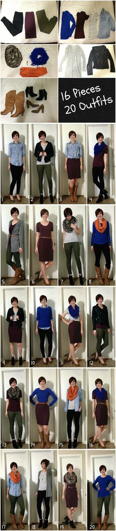 16 Pieces/ 20 Outfits- tips on packing outfits