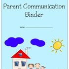 Parent Communication Binder by J Stacey Ely $