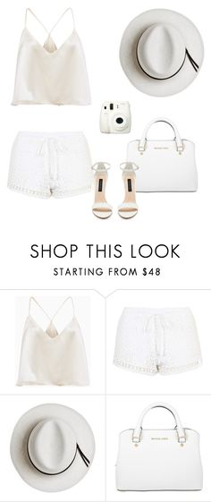 """""""Untitled #21"""" by stylish-cute-myself ❤ liked on Polyvore featuring Topshop, Calypso Private Label, Michael Kors, Fuji and Forever New"""