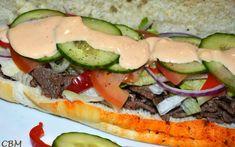 Dans la cuisine de Blanc-manger: Sous-marin au steak et fromage, sauce sud-ouest (Style Subway)