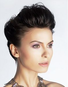 A long brown straight updo mature Party hair hairstyle by Mature Web Collection