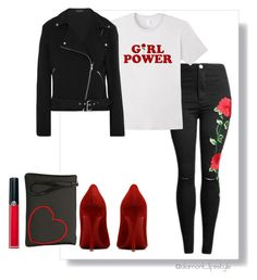 """Sin título #126"" by evelinvalenciagomez on Polyvore featuring moda, Equipment, Gum by Gianni Chiarini y Armani Beauty"