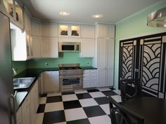 Art Deco Kitchen With White Cabinets Creating The Elegant Kitchens