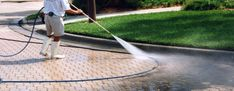 G C S can clean and restore a wide range of surfaces using a powerful rotary headed pressure washing machine that is effective enough to remove unsightly marks, dirt/grease, graffiti, most oil stains, weeds, moss and algae from all types of surfaces.  If you need an area to look like new again then call for our pressure cleaning services.