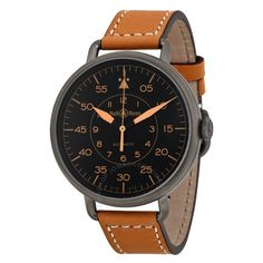 Bell and Ross WW1 Heritage Automatic Black Dial Tan Leather Men's Watch BRWW192-HERITAGE - Vintage - Bell and Ross - Watches  - Jomashop