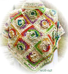 "Dreieckstücher - Handmade-Hippie-Style-Dreieckstuch ""LENI"" - ein Designerstück von woll-net bei DaWanda"