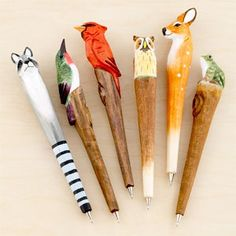 Forest Animals Pens, set of 6.  Adorable.