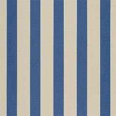 Sunbrella Canvas Block Stripe Mediterranean 4921-0000 Awning/Marine Fabric - Hundreds of Sunbrella Awning Fabrics available at patiolane.com 50-cent Sunbrella samples too!
