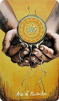 One Card Reading, Tarot Significado, Ace Of Pentacles, Star Tarot, Daily Tarot, Tarot Card Meanings, Tarot Card Decks, Tarot Spreads, Visionary Art