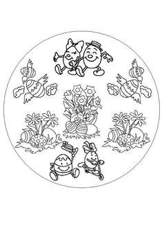 Mandala da colorare per bambini - Mandala divertente