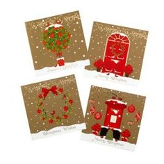 Traditional Gold Christmas Cards 20 Pack - Christmas Cards - Christmas Wrapping and Cards - Christmas Christmas On A Budget, Gold Christmas, Christmas Wrapping, Christmas Themes, Christmas Cards, Holiday Decor, Vintage Theme, Old Fashioned Christmas, Wraps