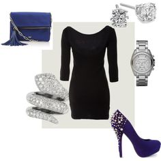 Black, Blue, and Diamonds. Next Vegas outfit with my papi :)