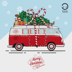 KombiT1: VW T1 Merry Christmas Edition Merry Christmas, Christmas Car, Christmas Signs, Christmas Images, Vintage Christmas, Christmas Crafts, Christmas Decorations, Christmas Ornaments, Christmas Pictures To Draw