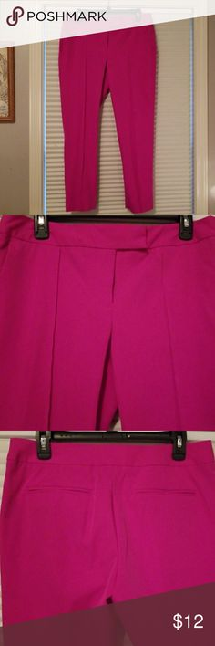 Dress pants - ankle length Fushia dress pants, ankle length. Worthington Pants Ankle & Cropped