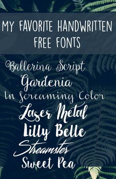 My favorite handwritten free fonts