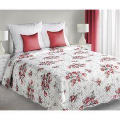 Bílý oboustranný přehoz na postel s květinovým vzorem - dumdekorace.cz Comforters, Blanket, Bed, Furniture, Home Decor, Home, Creature Comforts, Quilts, Decoration Home