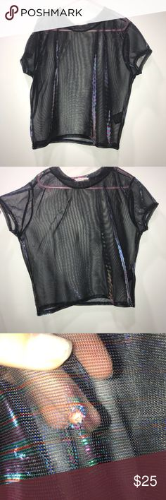 urban outfitters mesh top Mesh top that comes when attached to light has a small hole barely noticeable silence + noise Tops