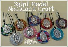 Saint Medal Necklace Craft {Catholic Teen Girl Fun!!!} - Catholic Inspired