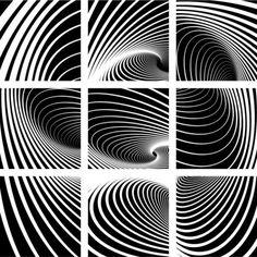 noir-et-blanc-motif-en-spirale