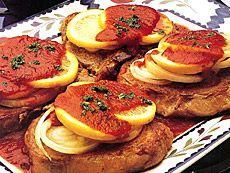 Côtelettes de porc au citron