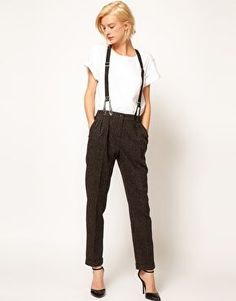 e233b867844 Peg Trousers With Braces. Suspenders For WomenSuits For WomenClothes ...