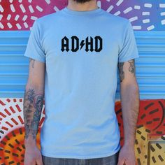 ADHD T-Shirt (Mens) - Large / White