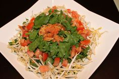 Easy and healthy tofu salad recipe from Taro Brand. Ingredients: 1 Pkg (10oz) Taro Brand Bean Sprouts, blanched and cooled, 1 Block Firm Tofu, ½ Maui...