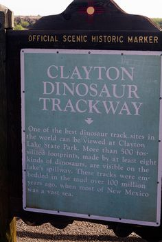 Clayton Lake Dinosaur Tracks