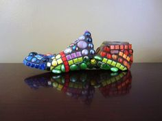 PERSONALIZED  mosaic shoe last  -- great Mothers Day, Fathers Day or Birthday gift idea, perfect for the person who has everything