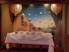 We created the balloons and decorated with flowers and tulle for my sister and brother-in-laws wedding shower.