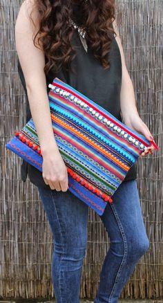 Oversized Ethnic Embellished Clutch Bag by RENIQLO on Etsy, £20.00