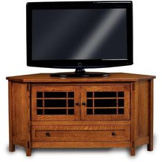 Amish Centennial Corner Tv Stand With Two Doors And Drawer 1 282 Liked On