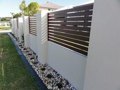 Arden Gates Ardenwood aluminium wood effect fencing 3 - Garten House Fence Design, Fence Gate Design, Modern Fence Design, Backyard Fences, Backyard Landscaping, Landscaping Ideas, Yard Fencing, Diy Fence, Fence Ideas