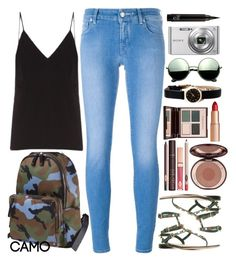 """""""camo style"""" by ecem1 ❤ liked on Polyvore featuring Valentino, Jacob Cohёn, Raey, Charlotte Tilbury, Marc by Marc Jacobs, Revo, Sony and camostyle"""