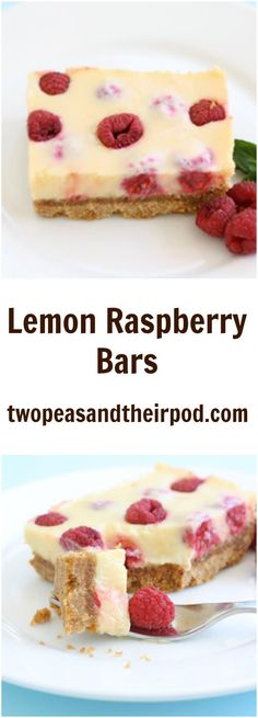 Lemon Raspberry Bars Recipe on twopeasandtheirpod.com These easy lemon raspberry bars with a graham cracker crust are AMAZING! Everyone will beg for the recipe!