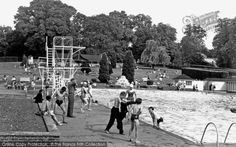 Photo of Guildford, The Swimming Pool Guildford Castle, Old Cottage, River Bank, Portsmouth, Kids House, Playground, Swimming Pools, Dolores Park, Street View