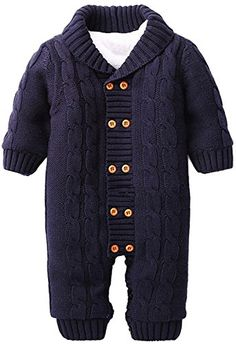 1ed1d8eba Winter Baby Sweater Cotton Thick V-neck Solid Knitwear Rompers Children  Outerwear. Baby Boy Suites 101 · Boy Clothing