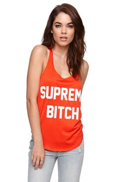Married to the Mob Supreme Bitch Mesh Tank #pacsun    Total AHS wordrove