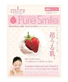 Pure Smile Essence Mask - Strawberry Milk Essence