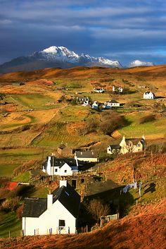 Tarskavaig Crofting Village, Isle of Skye, Scotland.