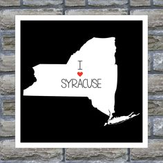 NEW YORK State Map Art  Print Personalized I Heart My Hometown - All 50 States Available. $16.00, via Etsy.
